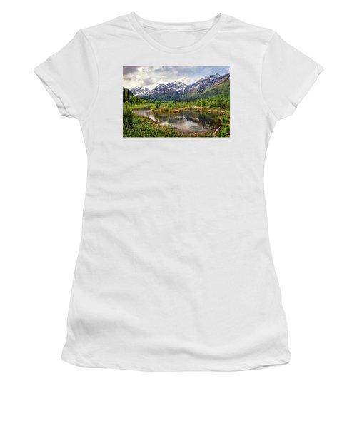 Beaver Pond, Eagle River Ak Women's T-Shirt