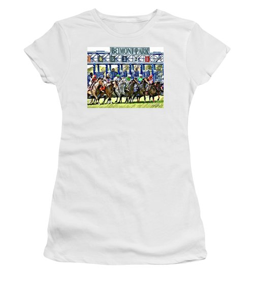 Belmont Park Starting Gate 1 Women's T-Shirt