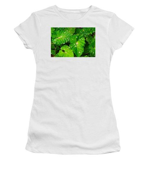Big Green Leaves Women's T-Shirt