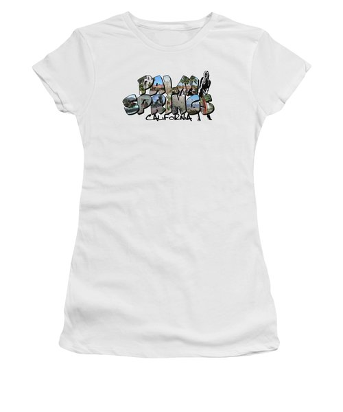 Big Letter Palm Springs California Women's T-Shirt