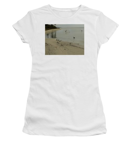 Birds On Beach Women's T-Shirt