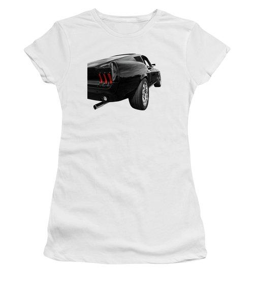 Black 1967 Mustang Rear Women's T-Shirt