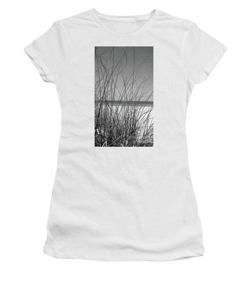 Black And White Beach View Women's T-Shirt