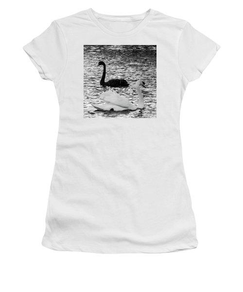 Black And White Swans Women's T-Shirt