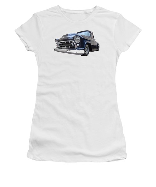 Blue 57 Stepside Chevy Women's T-Shirt