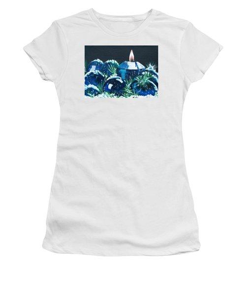 Blue Christmas  Women's T-Shirt
