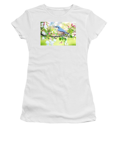 Blue Orange Bird Women's T-Shirt