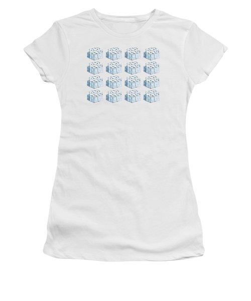 Blue Present Pattern Women's T-Shirt