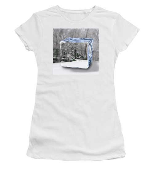 Blue Water Ice Cube Women's T-Shirt