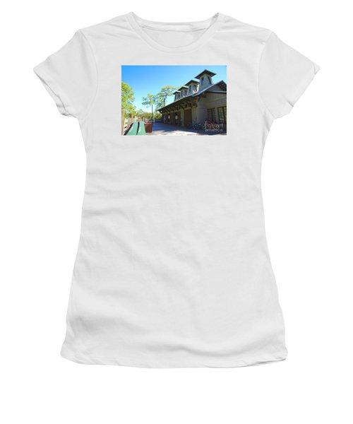 Boathouse In Watercolor Women's T-Shirt
