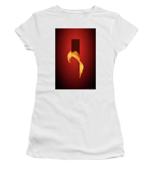 Bone Flare - Surreal Abstract Elephant Bone Collage With Rectangle Women's T-Shirt
