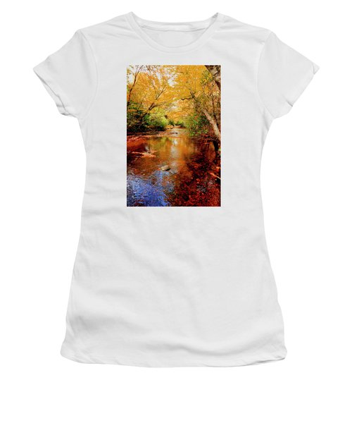 Women's T-Shirt (Athletic Fit) featuring the photograph Boone Fork Stream by Meta Gatschenberger