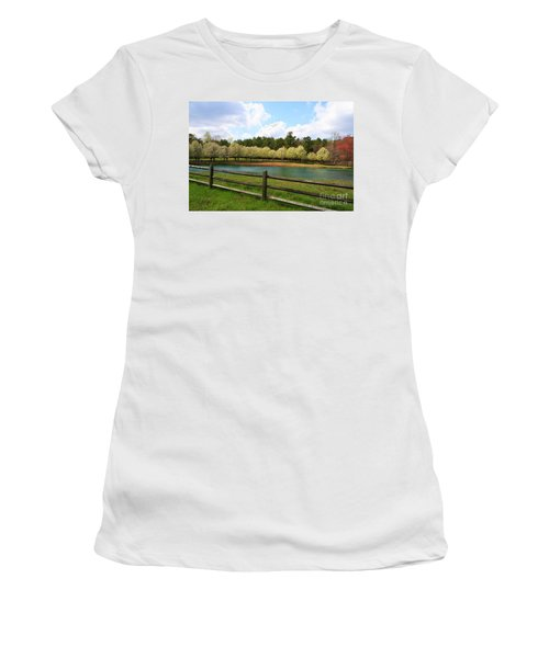 Bradford Pear Trees Blooming Women's T-Shirt