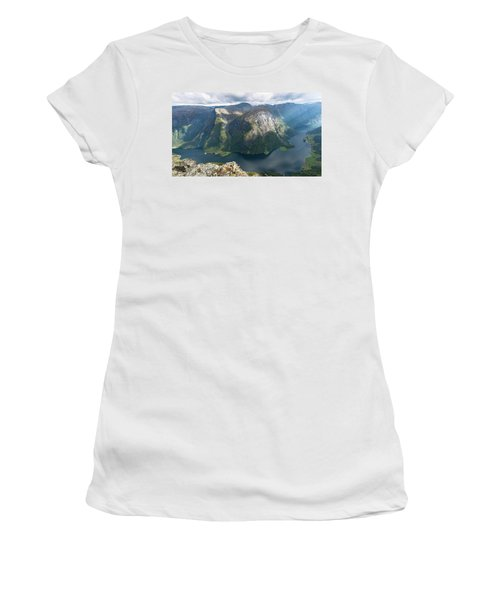 Women's T-Shirt featuring the photograph Breiskrednosie, Norway by Andreas Levi