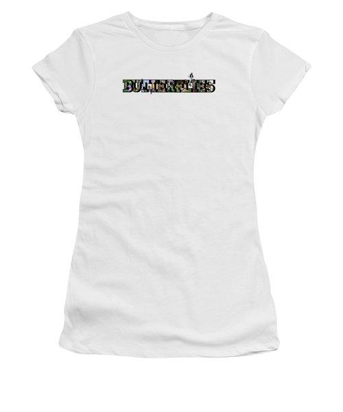 Butterflies Large Letter Women's T-Shirt
