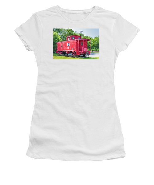 Women's T-Shirt featuring the photograph Caboose by Allin Sorenson