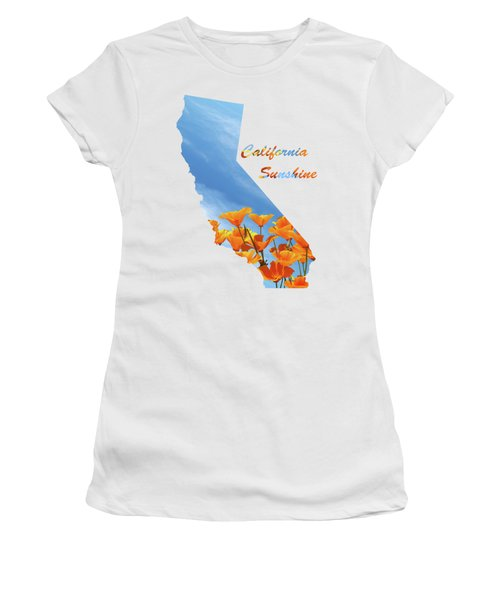 California Sunshine State Map Women's T-Shirt