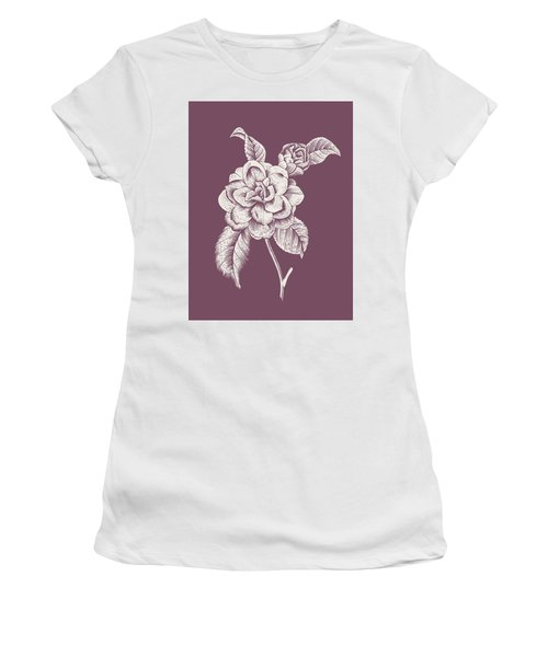 Camelia Purple Flower Women's T-Shirt