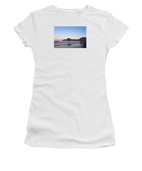 Women's T-Shirt (Athletic Fit) featuring the photograph Cape Kiwanda Oregon Sunrise 101618 by Rospotte Photography