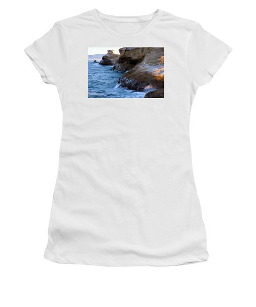 Women's T-Shirt (Athletic Fit) featuring the photograph Cape Kiwanda Pacific City Oregon 101818 by Rospotte Photography
