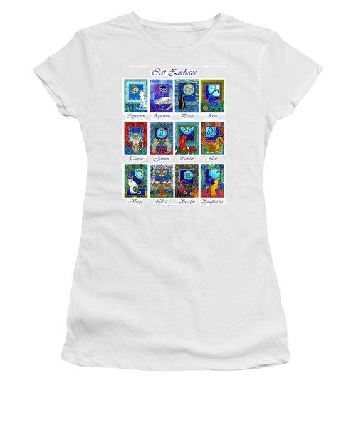 Cat Zodiac Astrological Signs Women's T-Shirt