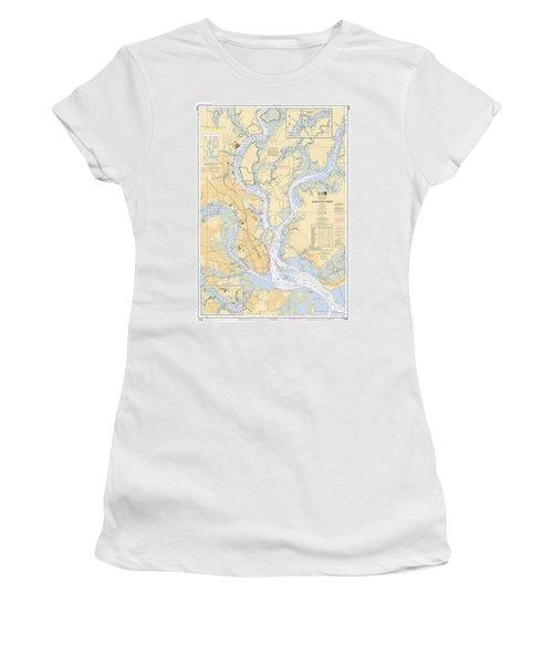 Charleston Harbor, Noaa Chart 11524 Women's T-Shirt