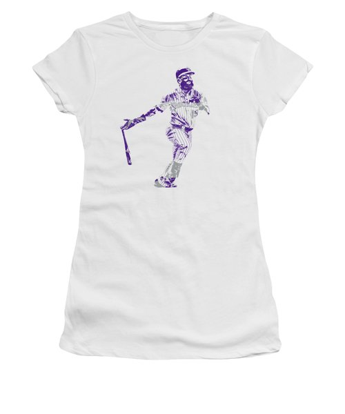 Charlie Blackmon Colorado Rockies Pixel Art 1 Women's T-Shirt
