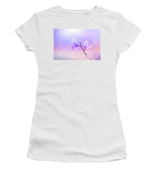 Charming Baby Leaves In Purple Women's T-Shirt