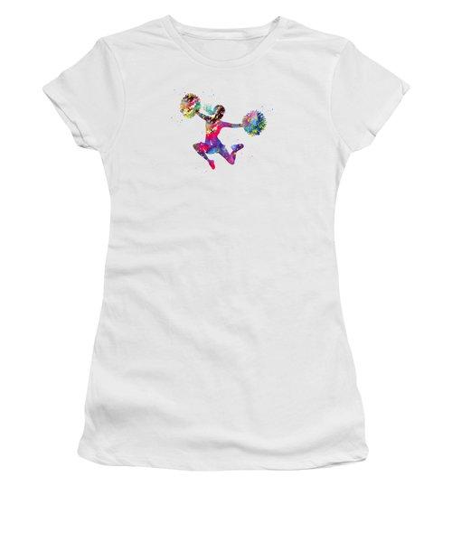 Cheerleader With Pompoms Women's T-Shirt