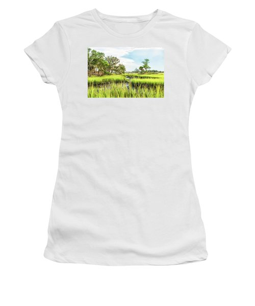 Chisolm Island - Marsh At Low Tide Women's T-Shirt