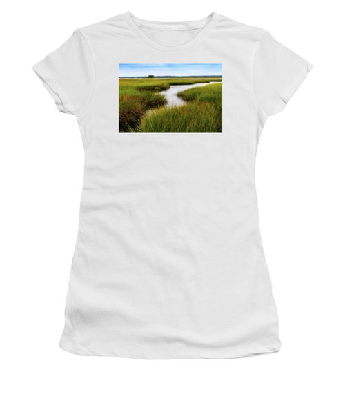 Women's T-Shirt featuring the photograph Choate Is. Estuary Ipswich Ma. by Michael Hubley