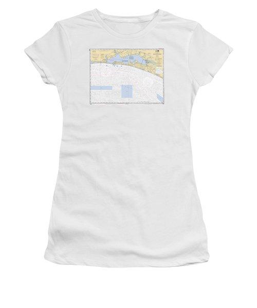 Choctawhatchee Bay Noaa Chart 11388 Women's T-Shirt
