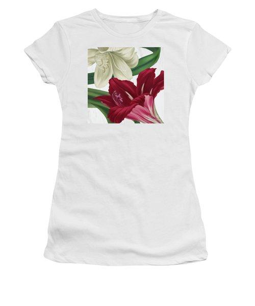 Christmas Amaryllis I Women's T-Shirt