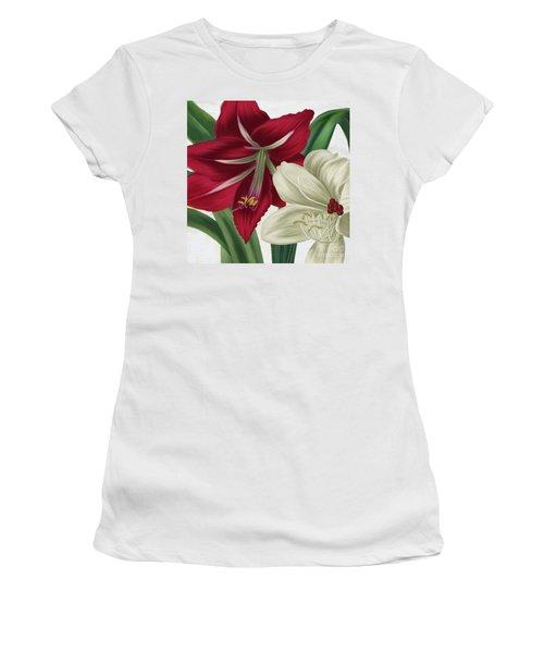 Christmas Amaryllis II Women's T-Shirt