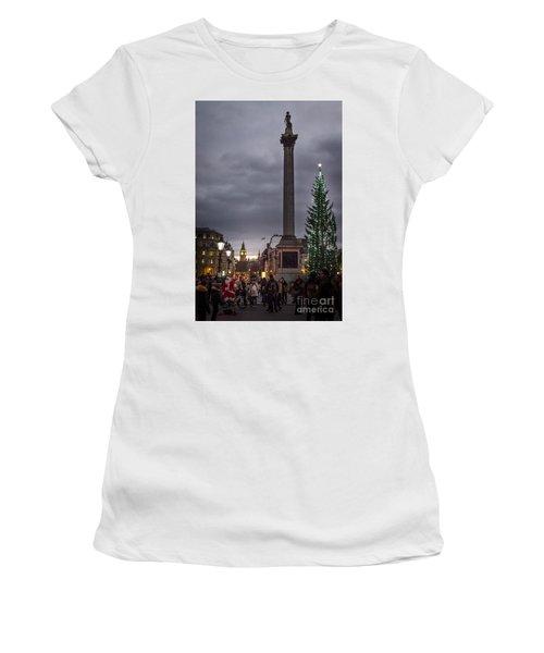 Christmas In Trafalgar Square, London Women's T-Shirt