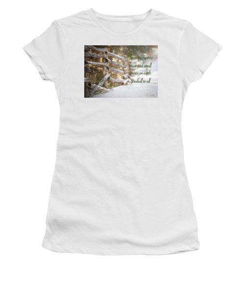 Christmas W/bobcat Women's T-Shirt