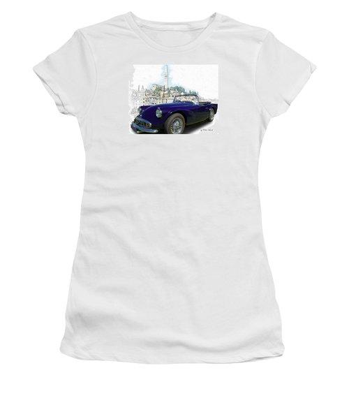 Classic British Sports Car In Croatia Women's T-Shirt