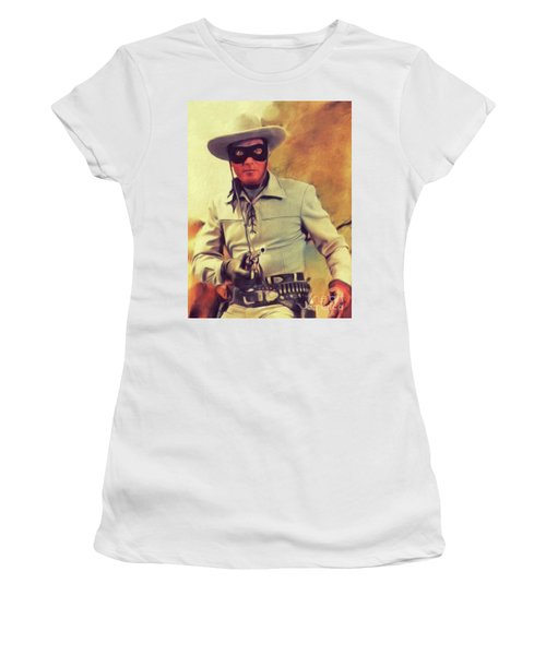 Clayton Moore, Vintage Actor Women's T-Shirt
