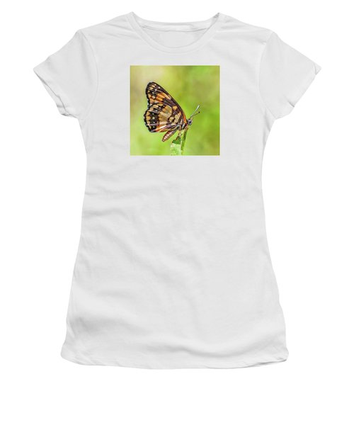 Women's T-Shirt (Athletic Fit) featuring the photograph Colorful Butterfly by Anthony Dezenzio
