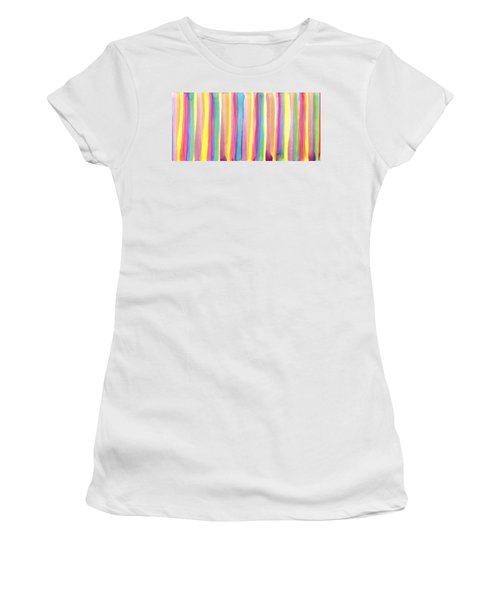 Colorful Striped Women's T-Shirt