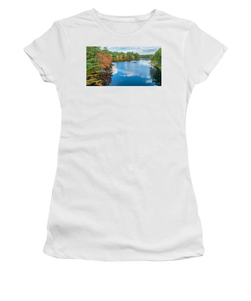 Women's T-Shirt (Athletic Fit) featuring the photograph Colors Of Cady Pond by Michael Hughes