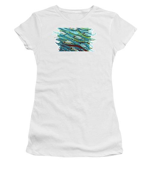 Coloured Water Fish - Digital Change 2 Women's T-Shirt