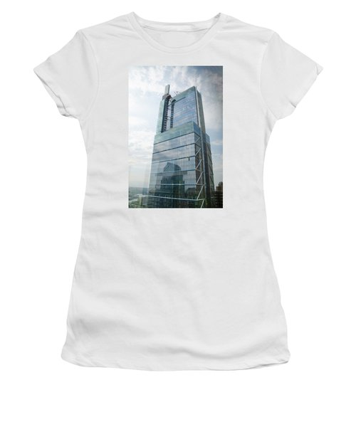 Women's T-Shirt featuring the photograph Comcast Technology Center - Philadelphia by Bill Cannon
