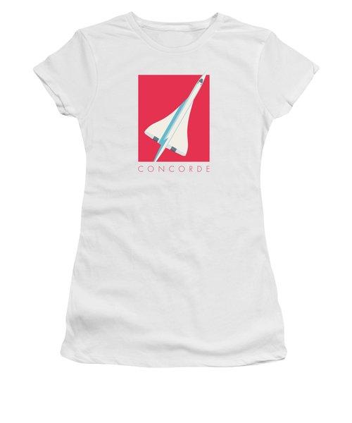 Concorde Jet Airliner - Crimson Women's T-Shirt