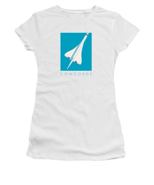 Concorde Jet Airliner - Cyan Women's T-Shirt