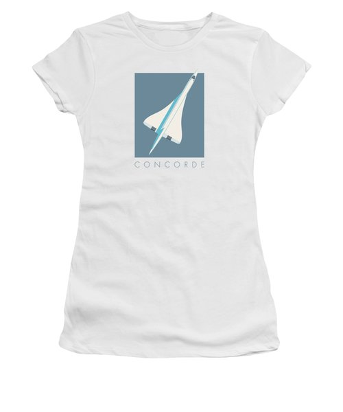 Concorde Jet Passenger Airplane Aircraft - Slate Women's T-Shirt