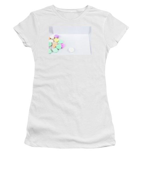 Conversation Hearts On A Notecard Women's T-Shirt