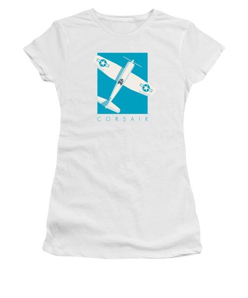 Corsair Fighter Aircraft - Cyan Women's T-Shirt