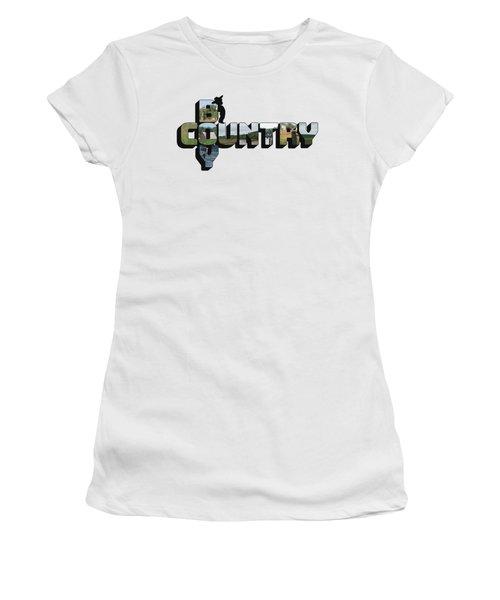Country Boy Big Letter Women's T-Shirt