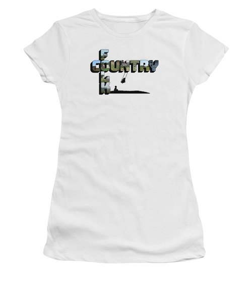 Country Folk Big Letter Graphic Art Women's T-Shirt